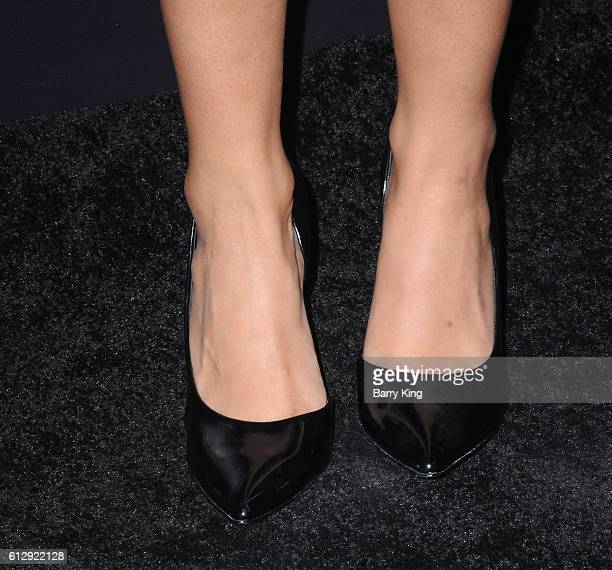 Actress Liza Koshy shoe detail attends the premiere of Hulu's 'Freakish' at Smogshoppe on October 5 2016 in Los Angeles California
