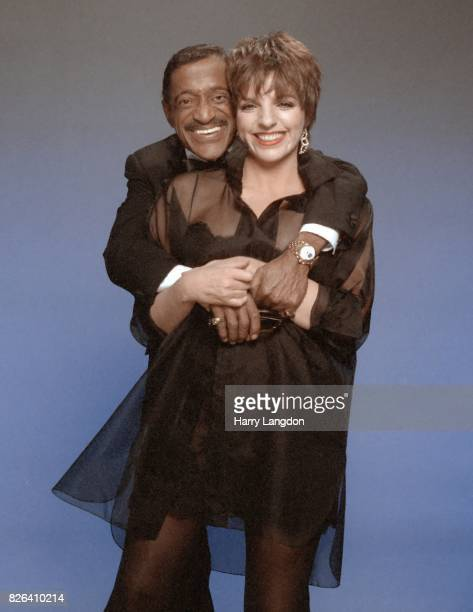 Actress Liza Minnelli and Sammy Davis Jr pose for a portrait in 1988 in Los Angeles California