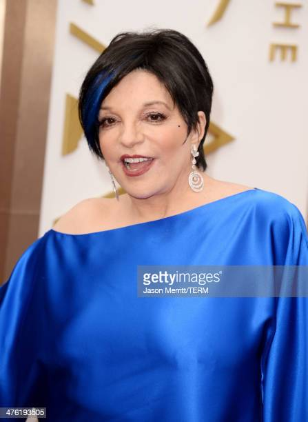 Actress Liza Minnelli attends the Oscars at Hollywood Highland Center on March 2 2014 in Hollywood California