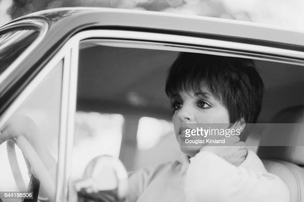 Actress Liza Minnelli in Car