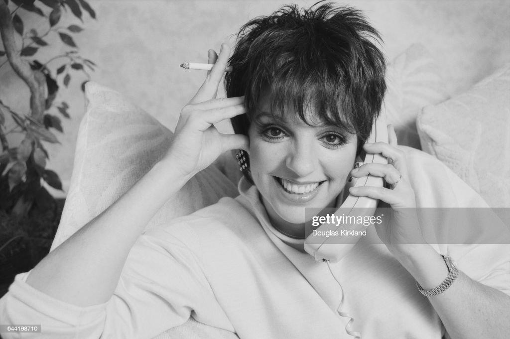 Actress Liza Minnelli on Telephone