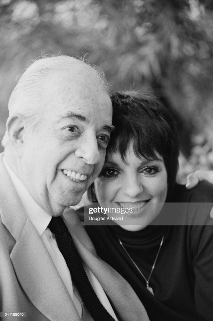 Actress Liza Minnelli with her father, movie director Vincente Minnelli.
