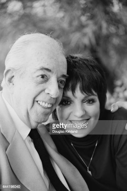 Actress Liza Minnelli with her father movie director Vincente Minnelli