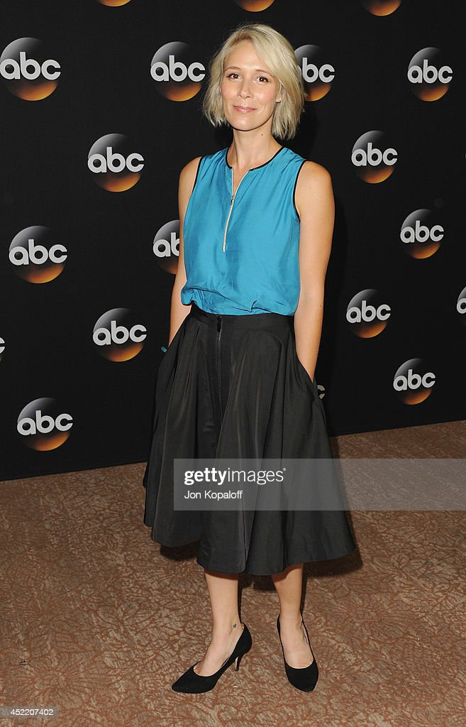 Actress <a gi-track='captionPersonalityLinkClicked' href=/galleries/search?phrase=Liza+Weil&family=editorial&specificpeople=2584032 ng-click='$event.stopPropagation()'>Liza Weil</a> arrives the Disney|ABC Television Group 2014 Television Critics Association Summer Press Tour at The Beverly Hilton Hotel on July 15, 2014 in Beverly Hills, California.