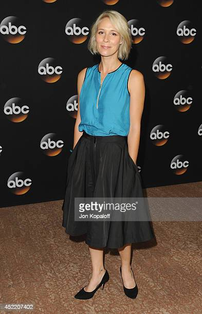 Actress Liza Weil arrives the Disney|ABC Television Group 2014 Television Critics Association Summer Press Tour at The Beverly Hilton Hotel on July...