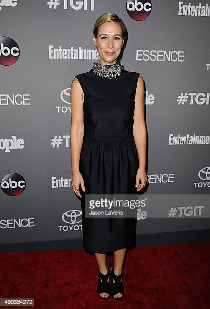 Actress Liza Weil attends ABC's TGIT premiere event on September 26 2015 in West Hollywood California