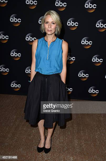 Actress Liza Weil attends the Disney/ABC Television Group 2014 Television Critics Association Summer Press Tour at The Beverly Hilton Hotel on July...