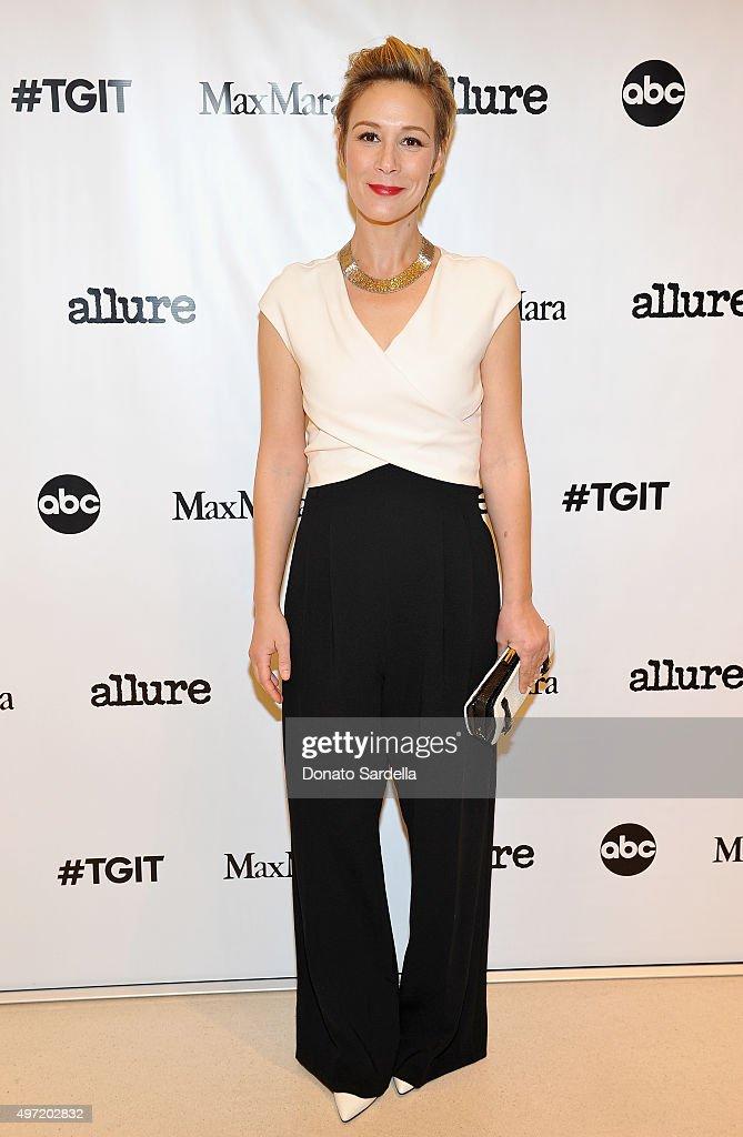 Actress Liza Weil, wearing MaxMara, attends 'MaxMara & Allure Celebrate ABC's #TGIT' at MaxMara on November 14, 2015 in Beverly Hills, California.