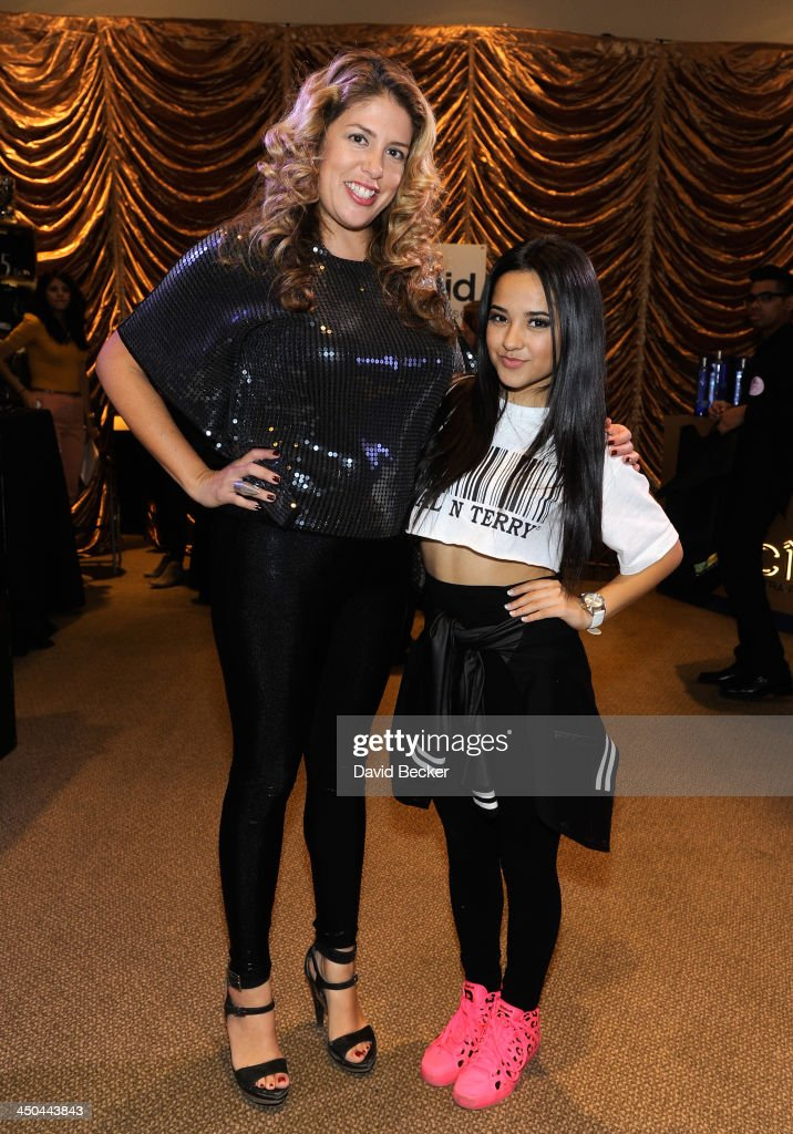 Actress Lizza Monet Morales and singer Becky G attend a gift lounge during the 14th annual Latin GRAMMY Awards at the Mandalay Bay Events Center on November 18, 2013 in Las Vegas, Nevada.