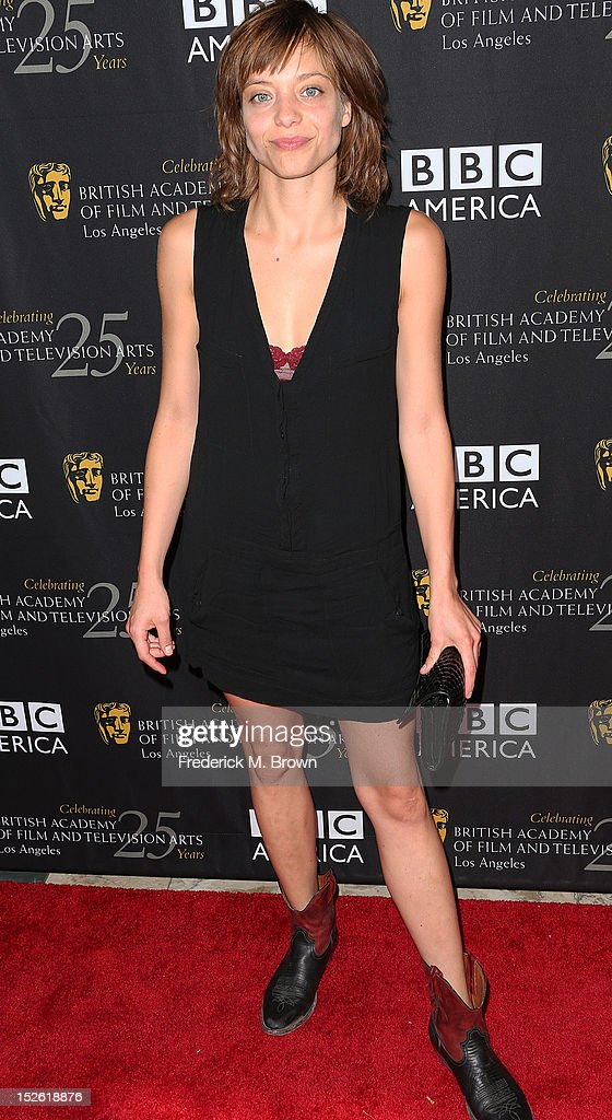 Actress <a gi-track='captionPersonalityLinkClicked' href=/galleries/search?phrase=Lizzie+Brochere&family=editorial&specificpeople=5672326 ng-click='$event.stopPropagation()'>Lizzie Brochere</a> attends BAFTA LA TV Tea 2012 Presented By BBC America at The London Hotel Hollywood on September 22, 2012 in West Hollywood, California.