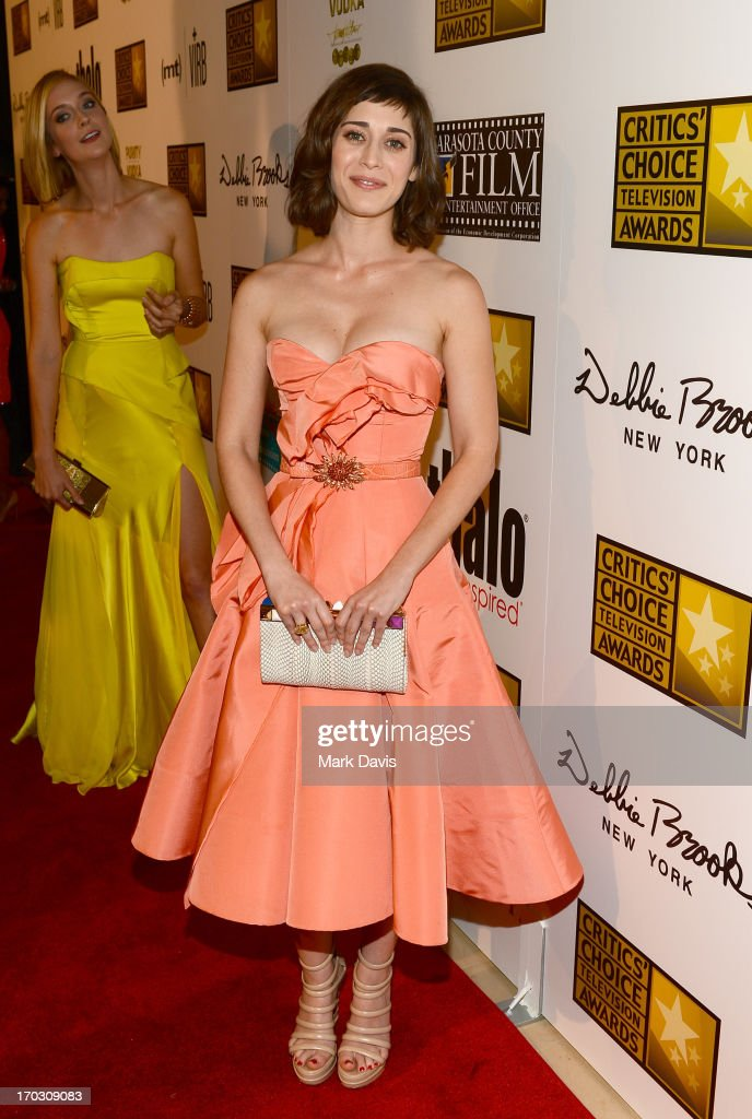 Actress <a gi-track='captionPersonalityLinkClicked' href=/galleries/search?phrase=Lizzy+Caplan&family=editorial&specificpeople=599560 ng-click='$event.stopPropagation()'>Lizzy Caplan</a> arrives at Broadcast Television Journalists Association's third annual Critics' Choice Television Awards at The Beverly Hilton Hotel on June 10, 2013 in Los Angeles, California.