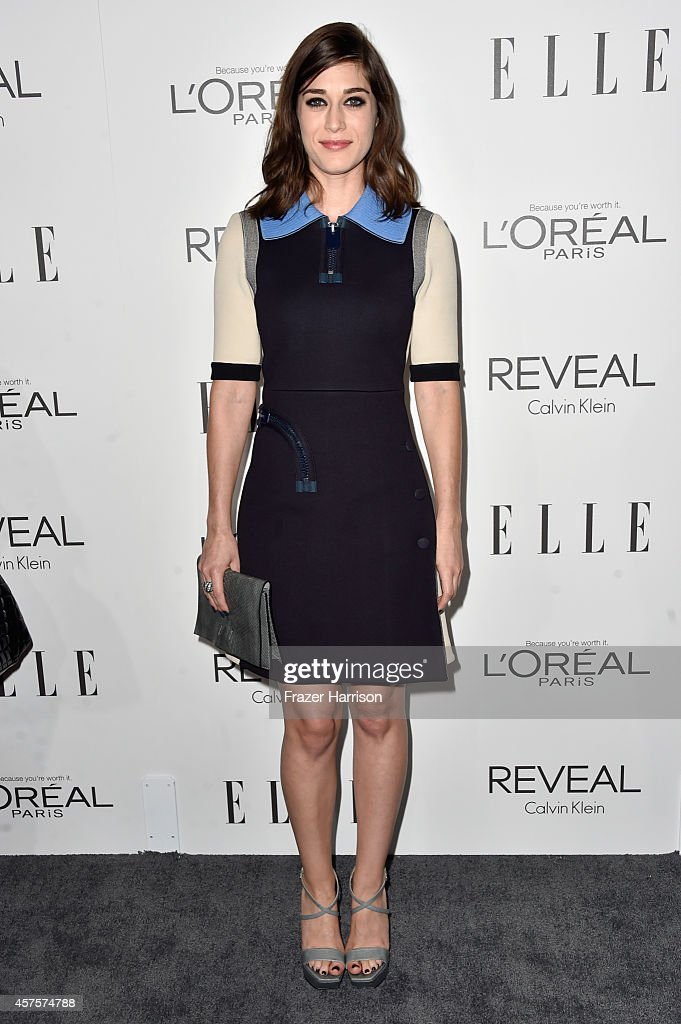 Actress Lizzy Caplan arrives at ELLE's 21st Annual Women In Hollywood at Four Seasons Hotel Los Angeles at Beverly Hills on October 20 2014 in...