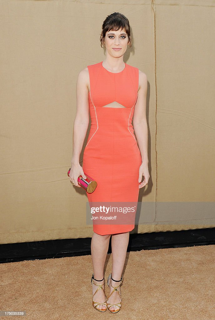 Actress <a gi-track='captionPersonalityLinkClicked' href=/galleries/search?phrase=Lizzy+Caplan&family=editorial&specificpeople=599560 ng-click='$event.stopPropagation()'>Lizzy Caplan</a> arrives at the 2013 Television Critic Association's Summer Press Tour - CBS, The CW, Showtime Party at The Beverly Hilton Hotel on July 29, 2013 in Beverly Hills, California.