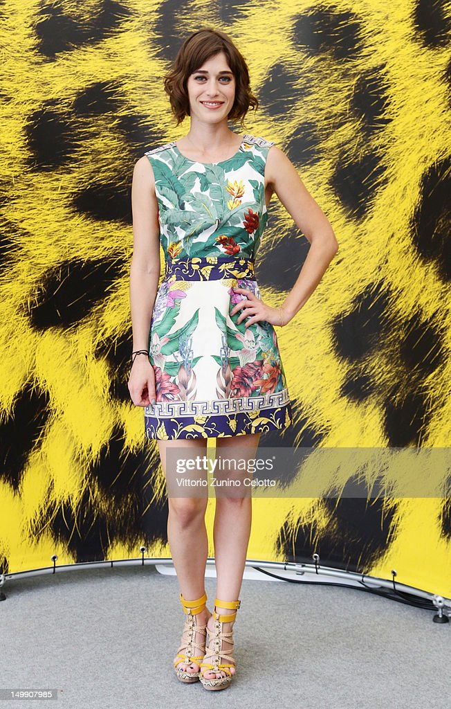 Actress Lizzy Caplan attends 'Bachelorette' photocall during the 65th Locarno Film Festival on August 6 2012 in Locarno Switzerland