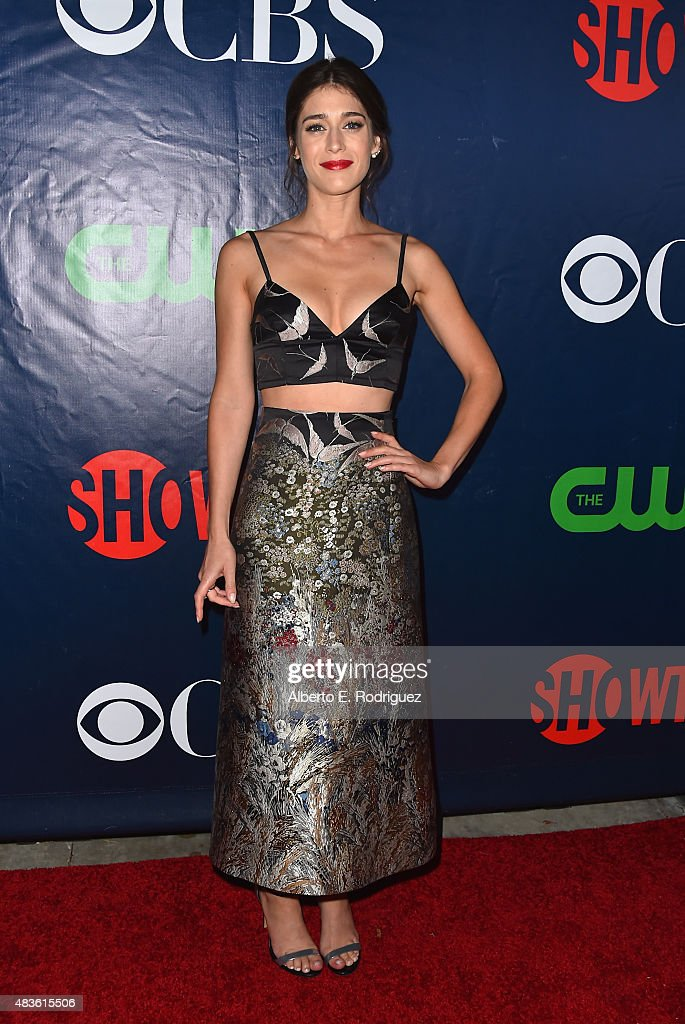 Actress <a gi-track='captionPersonalityLinkClicked' href=/galleries/search?phrase=Lizzy+Caplan&family=editorial&specificpeople=599560 ng-click='$event.stopPropagation()'>Lizzy Caplan</a> attends CBS' 2015 Summer TCA party at the Pacific Design Center on August 10, 2015 in West Hollywood, California.