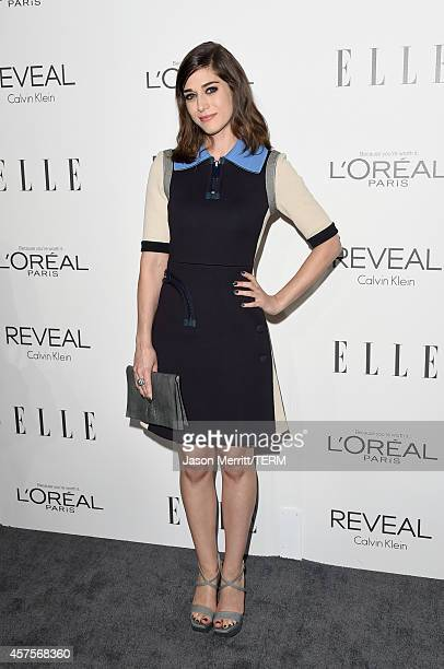 Actress Lizzy Caplan attends ELLE's 21st Annual Women in Hollywood Celebration at the Four Seasons Hotel on October 20 2014 in Beverly Hills...