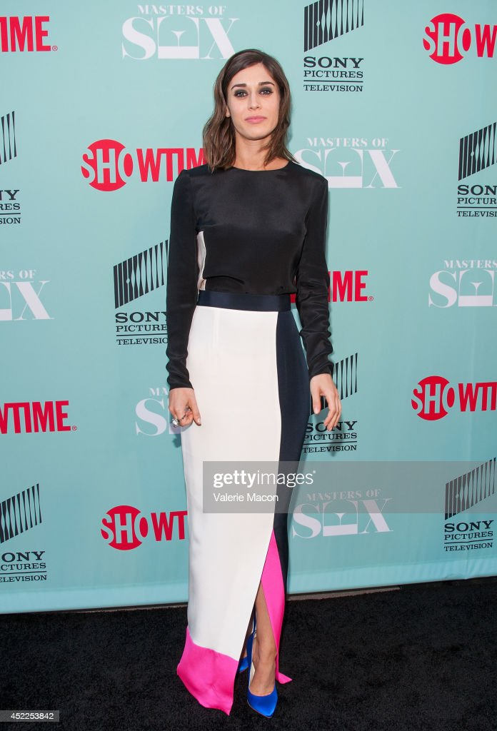 Actress <a gi-track='captionPersonalityLinkClicked' href=/galleries/search?phrase=Lizzy+Caplan&family=editorial&specificpeople=599560 ng-click='$event.stopPropagation()'>Lizzy Caplan</a> attends Showtime's 'Masters Of Sex' Season 2 - 2014 Summer TCA Press Tour Event at Sony Pictures Studios on July 16, 2014 in Culver City, California.