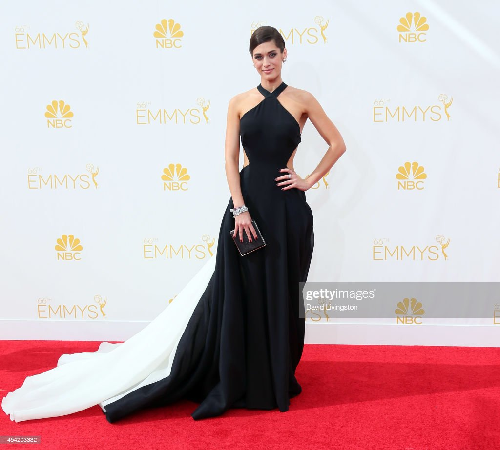 Actress <a gi-track='captionPersonalityLinkClicked' href=/galleries/search?phrase=Lizzy+Caplan&family=editorial&specificpeople=599560 ng-click='$event.stopPropagation()'>Lizzy Caplan</a> attends the 66th Annual Primetime Emmy Awards at the Nokia Theatre L.A. Live on August 25, 2014 in Los Angeles, California.