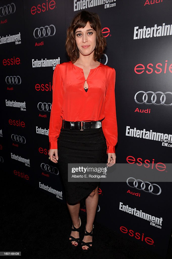 Actress Lizzy Caplan attends the Entertainment Weekly Pre-SAG Party hosted by Essie and Audi held at Chateau Marmont on January 26, 2013 in Los Angeles, California.