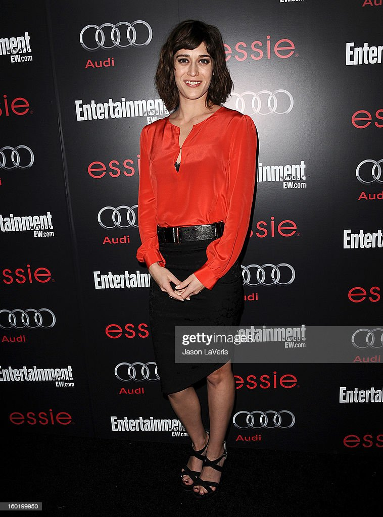 Actress Lizzy Caplan attends the Entertainment Weekly Screen Actors Guild Awards pre-party at Chateau Marmont on January 26, 2013 in Los Angeles, California.