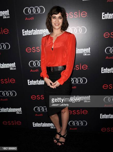 Actress Lizzy Caplan attends the Entertainment Weekly Screen Actors Guild Awards preparty at Chateau Marmont on January 26 2013 in Los Angeles...