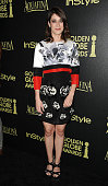Actress Lizzy Caplan attends the Hollywood Foreign Press Association and InStyle's celebration of the 2015 Golden Globe award season at Fig Olive...