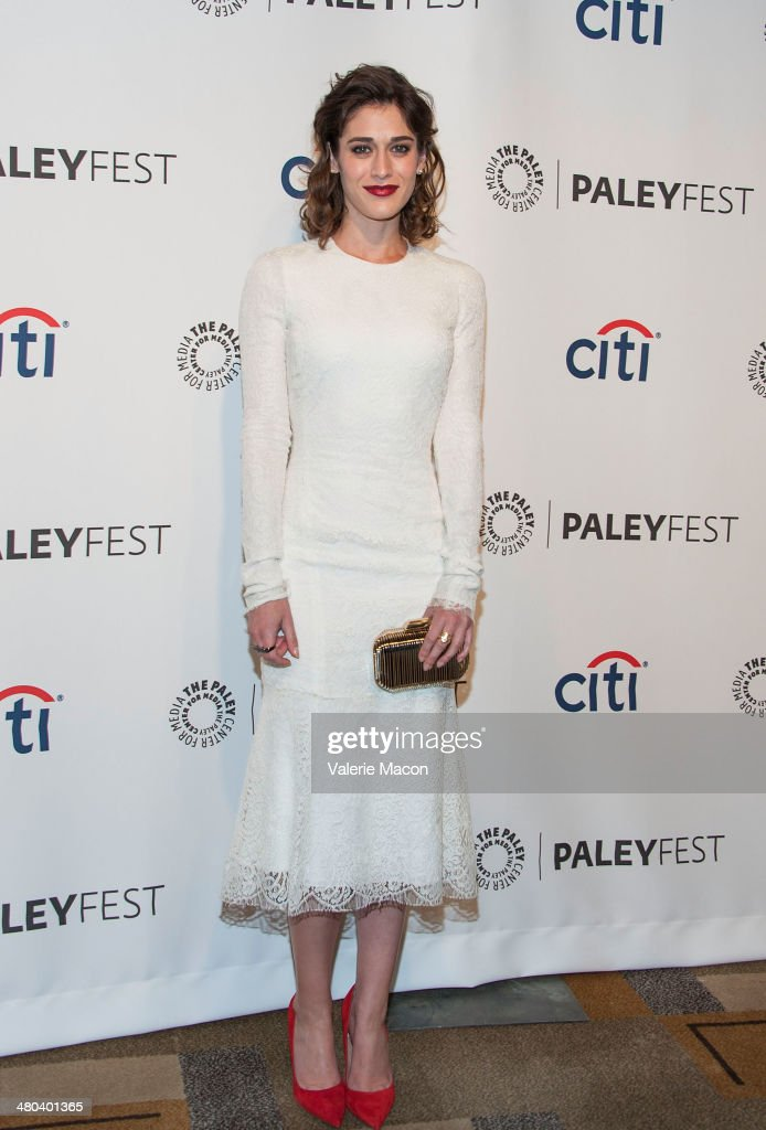 Actress <a gi-track='captionPersonalityLinkClicked' href=/galleries/search?phrase=Lizzy+Caplan&family=editorial&specificpeople=599560 ng-click='$event.stopPropagation()'>Lizzy Caplan</a> attends The Paley Center For Media's PaleyFest 2014 Honoring 'Masters Of Sex' at Dolby Theatre on March 24, 2014 in Hollywood, California.