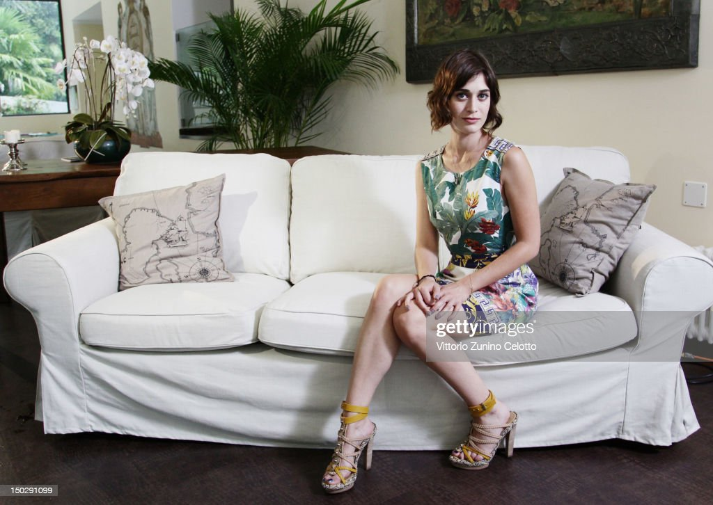 Actress Lizzy Caplan poses for a portrait session on August 6 2012 in Locarno Switzerland