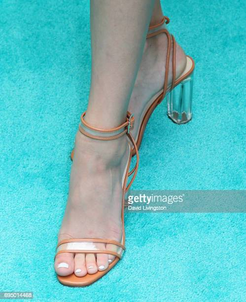 Actress Lizzy Greene shoe detail attends Children Mending Hearts' 9th Annual Empathy Rocks at a private residence on June 11 2017 in Bel Air...