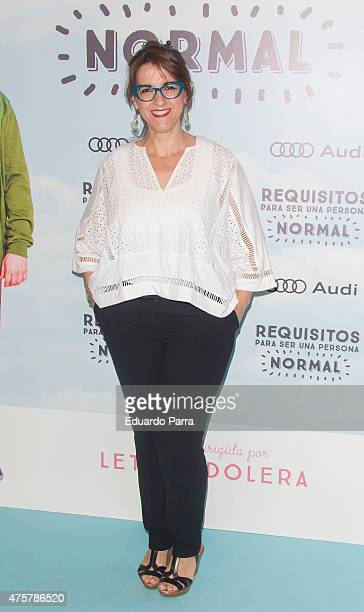 Actress Llum Barrera attends 'Requisitos para ser una persona normal' premiere at Palafox cinema on June 3 2015 in Madrid Spain