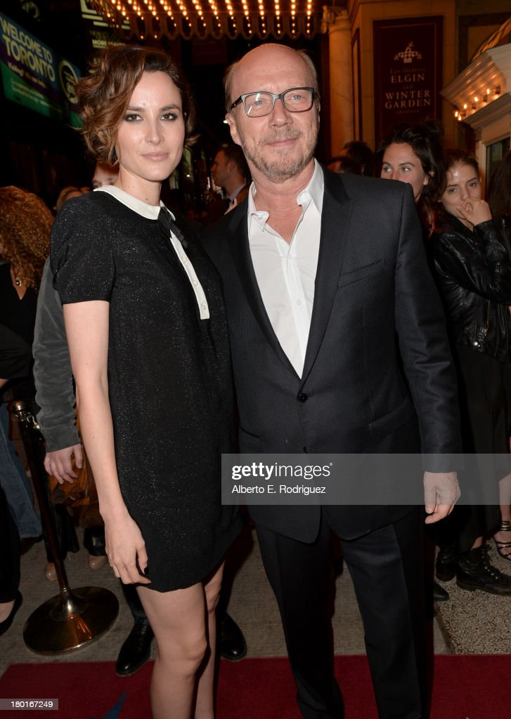 Actress Loan Chabanol (L) and director <a gi-track='captionPersonalityLinkClicked' href=/galleries/search?phrase=Paul+Haggis&family=editorial&specificpeople=213967 ng-click='$event.stopPropagation()'>Paul Haggis</a> arrive at the 'Third Person' Premiere during the 2013 Toronto International Film Festival at The Elgin on September 9, 2013 in Toronto, Canada.