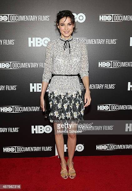 Actress Loan Chabanol attends HBO presents the premiere of 'Mr Dynamite The Rise of James Brown' at Time Warner Screening Room on October 20 2014 in...