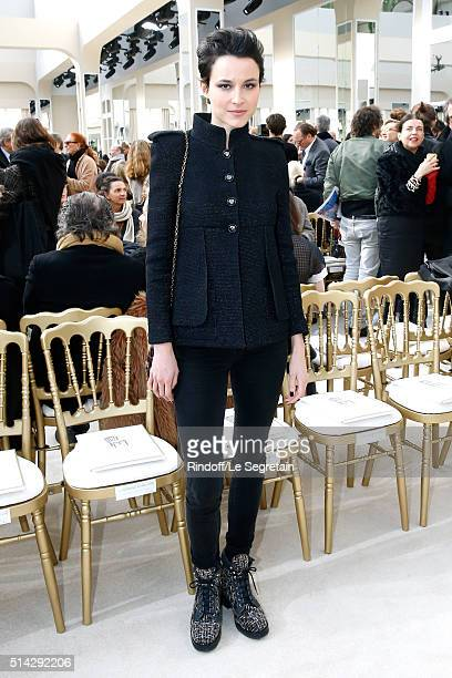 Actress Loan Chabanol attends the Chanel show as part of the Paris Fashion Week Womenswear Fall/Winter 2016/2017 on March 8 2016 in Paris France