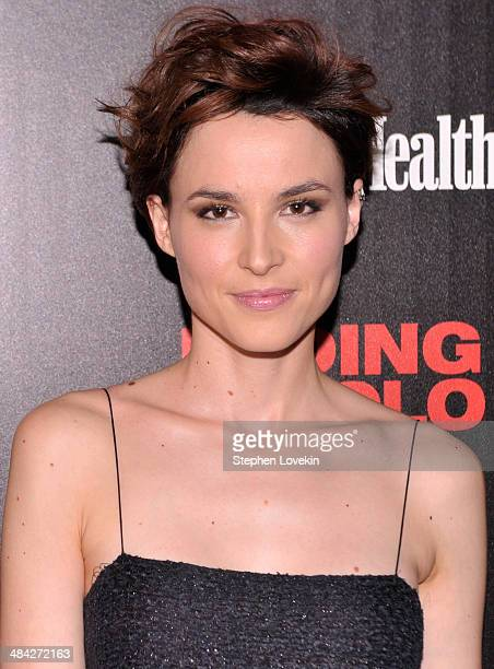 Actress Loan Chabanol attends the Cinema Society Women's Health screening of Millennium Entertainment's 'Fading Gigolo' at SVA Theatre on April 11...
