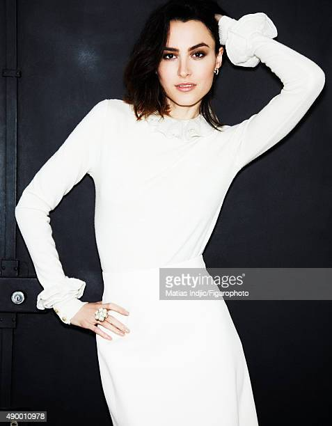 Actress Loan Chabanol is photographed for Madame Figaro on May 16 2015 in Paris France Dress and ring PUBLISHED IMAGE CREDIT MUST READ Matias...