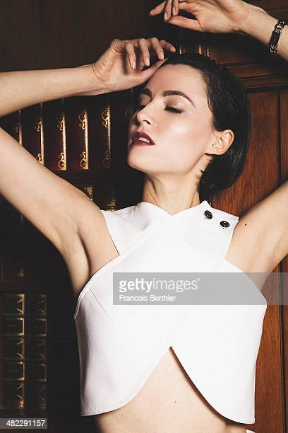 Actress Loan Chabanol is photographed for Self Assignment on February 17 2014 in Paris France