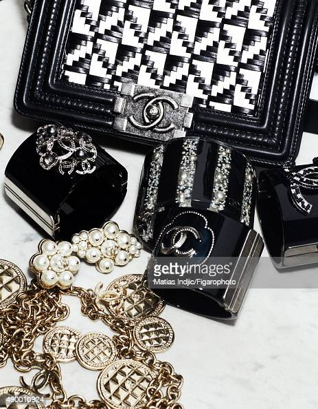Actress Loan Chabanol's fashion inspirations are photographed for Madame Figaro on May 16 2015 in Paris France Bag and rings PUBLISHED IMAGE CREDIT...