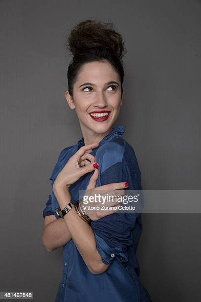 Actress Lodovica Comello poses for Self Assignment on July 18 2015 in Giffoni Valle Piana Italy