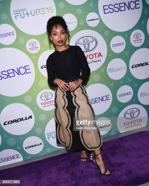 Actress Logan Browning arrives at the Essence Toyota Future 15 Event at Root NYC on June 22 2017 in New York City