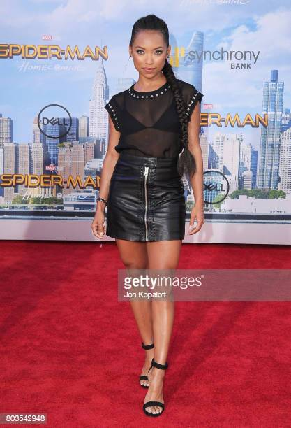 Actress Logan Browning arrives at the Los Angeles Premiere 'SpiderMan Homecoming' at TCL Chinese Theatre on June 28 2017 in Hollywood California