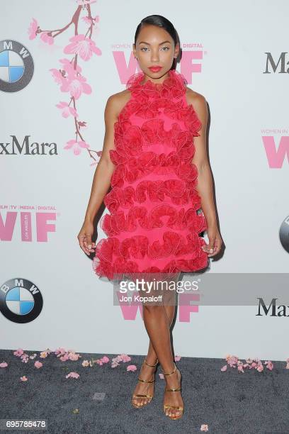 Actress Logan Browning arrives at the Women In Film 2017 Crystal Lucy Awards Presented By Max Mara And BMW at The Beverly Hilton Hotel on June 13...