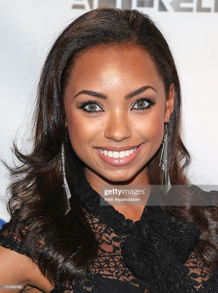 Actress <a gi-track='captionPersonalityLinkClicked' href=/galleries/search?phrase=Logan+Browning&family=editorial&specificpeople=4428135 ng-click='$event.stopPropagation()'>Logan Browning</a> attends Logo's 'Hot 100' Party at Drai's Lounge in W Hollywood on June 25, 2013 in Hollywood, California.
