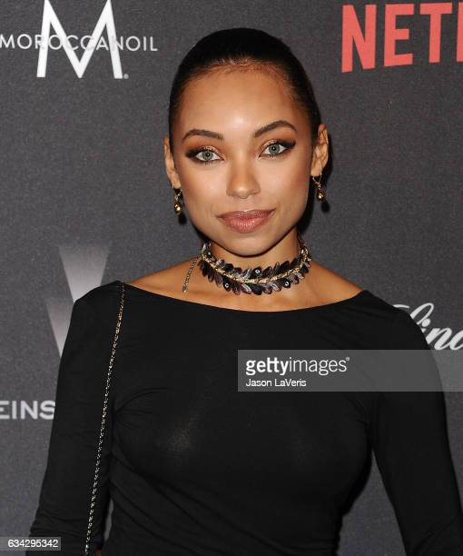 Actress Logan Browning attends the 2017 Weinstein Company and Netflix Golden Globes after party on January 8 2017 in Los Angeles California