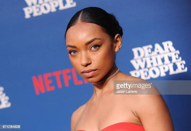 Actress Logan Browning attends the premiere of 'Dear White People' at Downtown Independent on April 27 2017 in Los Angeles California