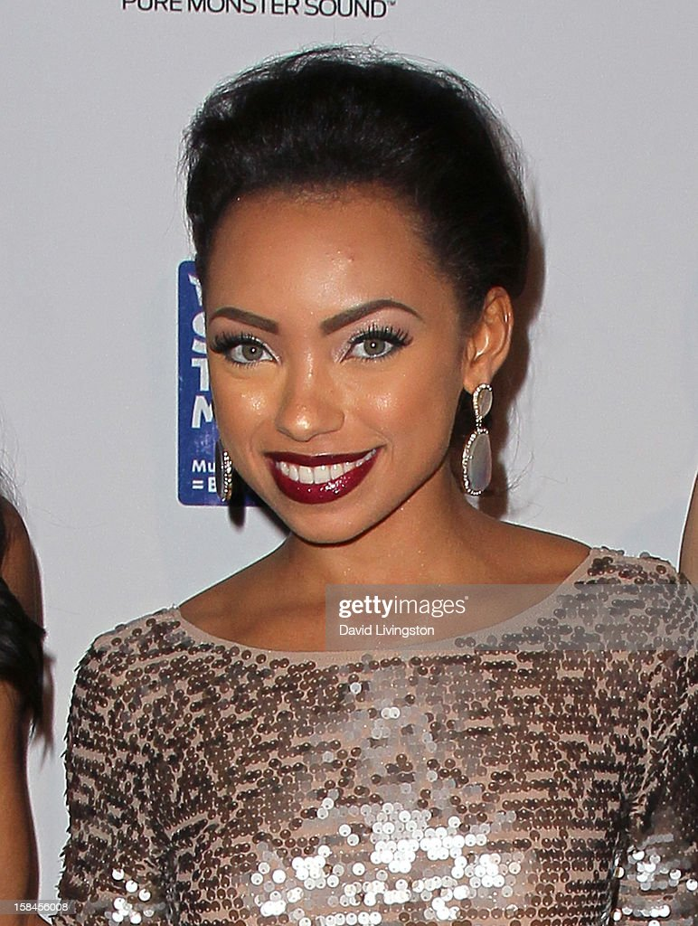 Actress Logan Browning attends the VH1 Divas After Party to benefit the VH1 Save The Music Foundation at the Shrine Expo Hall on December 16, 2012 in Los Angeles, California.