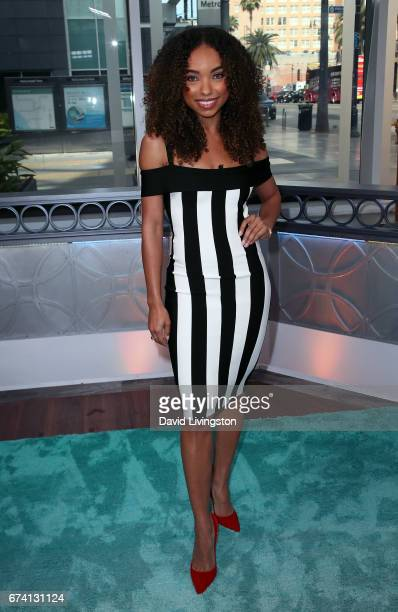 Actress Logan Browning visits Hollywood Today Live at W Hollywood on April 27 2017 in Hollywood California