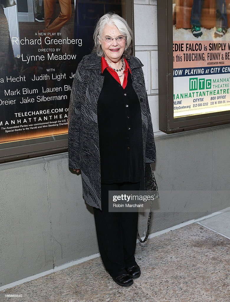 Actress Lois Smith attends the 'The Assembled Parties' opening night at Samuel J. Friedman Theatre on April 17, 2013 in New York City.