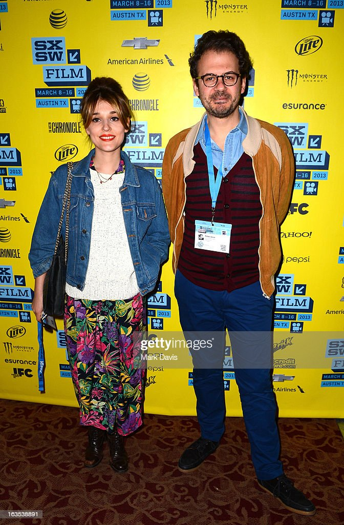 Actress Lola Bessis and writer Ruben Amar attend the 'Swim Little Fish Swim' photo op held at the 2013 SXSW Music, Film + Interactive Festival at held at the Alamo Ritz on March 11, 2013 in Austin, Texas.