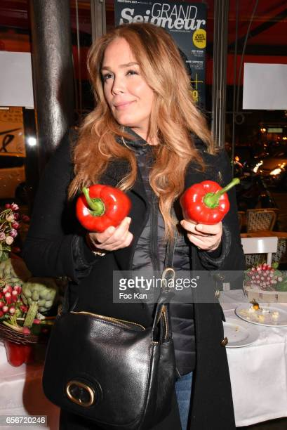 Actress Lola Dewaere attends 'Apero Mecs A Legumes' Party Hosted by Grand Seigneur Magazine at the Bistrot Marguerite on March 22 2017 in Paris France