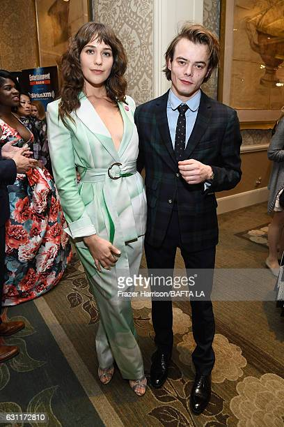 Actress Lola Kirke and actor Charlie Heaton attend The BAFTA Tea Party at Four Seasons Hotel Los Angeles at Beverly Hills on January 7 2017 in Los...